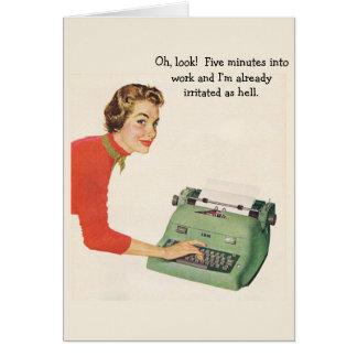 Retro Office - Already Irritated at Work, Card
