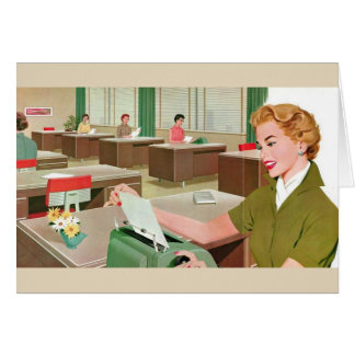 Retro Office - Dear Boss..., Card