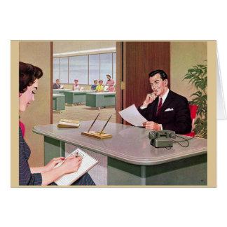 Retro Office - Too Many Meetings, Card