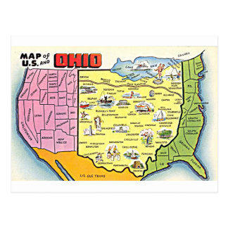 Retro Ohio postcard
