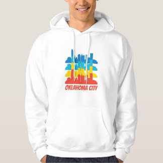 Retro Oklahoma City OK Skyline Pop Art Hoodie