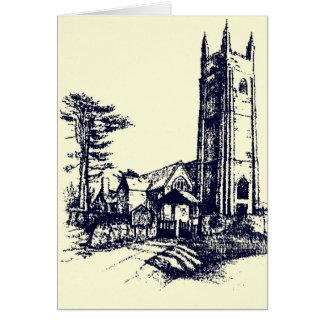 Retro Old English Church Card