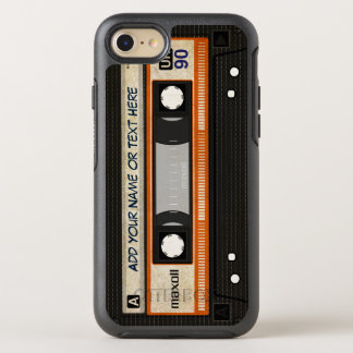 Retro Old Fashioned 80s Mixtape Audio Cassette OtterBox Symmetry iPhone 7 Case