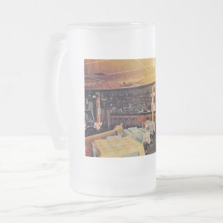 Retro Old Fashioned Shot and a Beer Tavern Vintage Frosted Glass Beer Mug