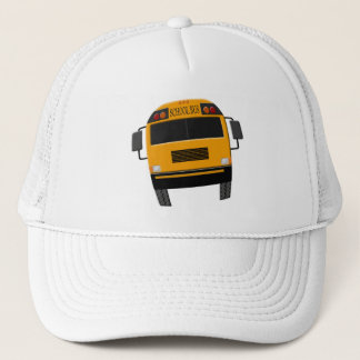 Retro Old School Bus Driver Cap Hat with Bus