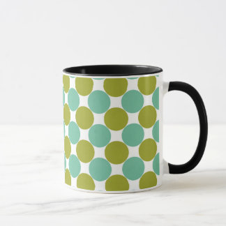 Retro Olive and Green Dots Mug