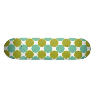 Retro Olive and Green Dots Skateboards