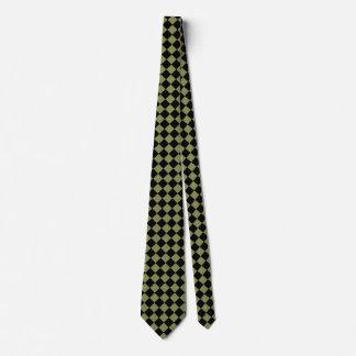 Retro Olive Checkerboard Checkered CricketDiane Tie