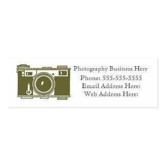 Retro Olive Green Film Camera Business Card