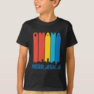 Retro Omaha Nebraska Skyline T-Shirt