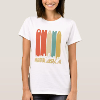Retro Omaha Nebraska Skyline T-Shirt