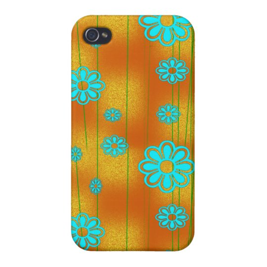 Retro Orange and Aqua iPhone 4 Cover