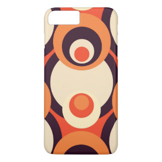 Retro Orange and Brown Fifties Abstract iPhone 7 Plus Case