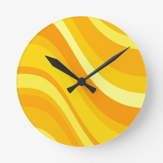 Retro Orange and Yellow Wall Clock
