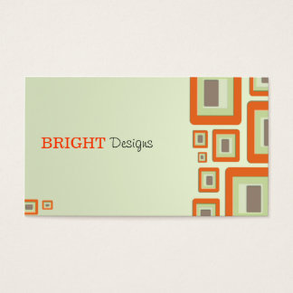 Retro Orange Business Card