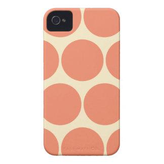 Retro Orange Large Polka Dot Iphone 4/4S Case