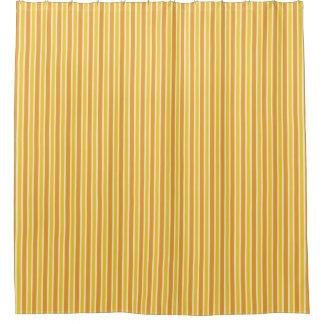 Retro Orange Stripe Shower Curtain