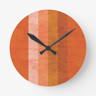 Retro Orange Striped Clock