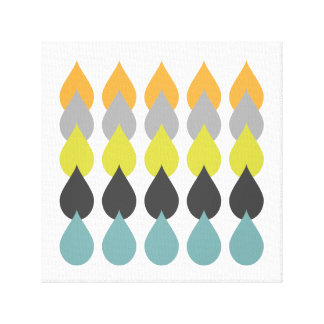 Retro Orange Yellow Blue Canvas Print