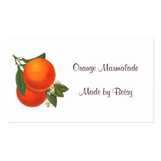 Retro Oranges Recipe Tag Business Card Template