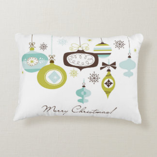 Retro Ornaments, Merry Christmas Decorative Pillow