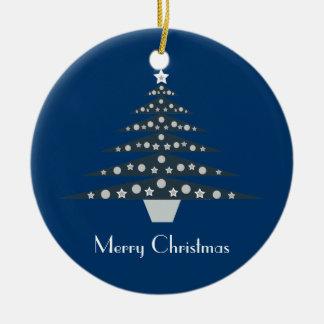 Rétro ornement assez bleu d'arbre de Noël