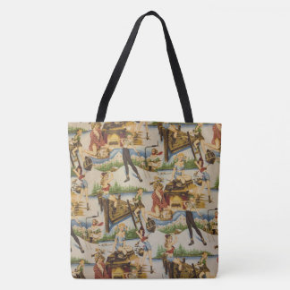 Retro Outdoor Blondes Tote Bag