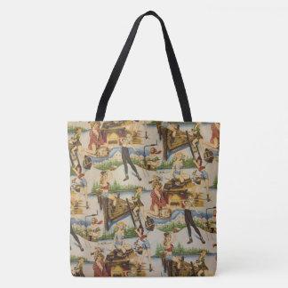 Retro Outdoor Blondes Tote Bag