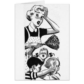 Retro Overwhelmed Mom Card