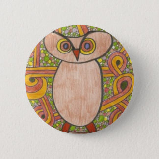 Retro Owl 2 Inch Round Button