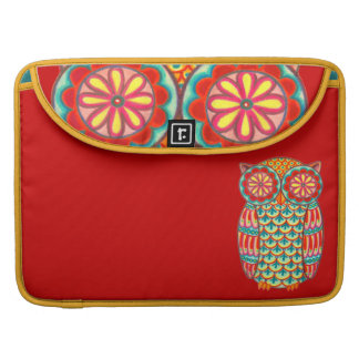 Retro Owl Art Macbook Pro Sleeve