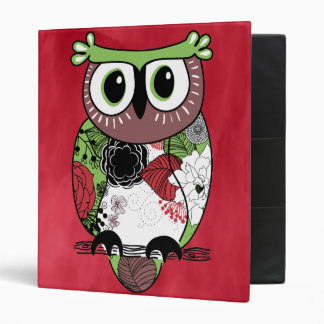 Retro Owl Binders
