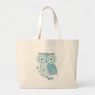 Retro Owl Large Tote Bag