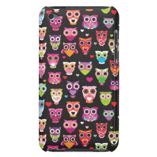 Retro owl pattern illustration barely there iPod covers