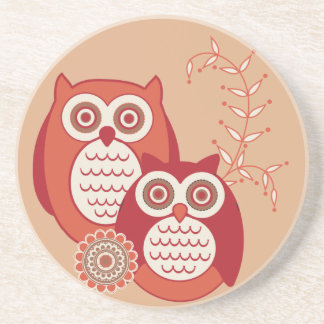 Retro Owls Coaster