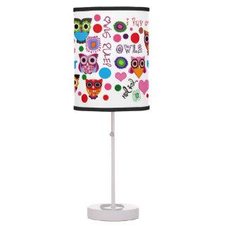 Retro Owls Lamp