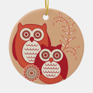Retro Owls Ornament