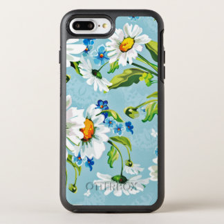 Retro Painted Flower Design OtterBox Symmetry iPhone 7 Plus Case