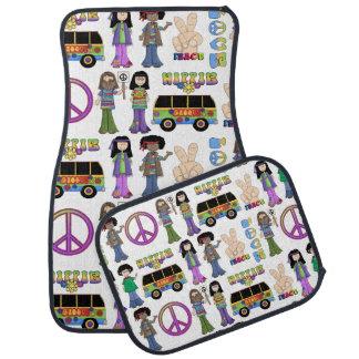 Rétro paix hippie de l'amour 60s tapis de voiture