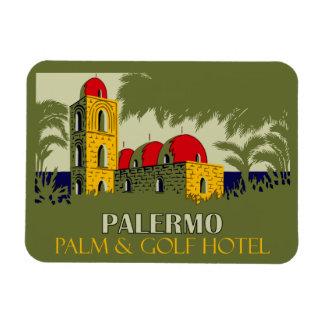 Retro Palermo Sicily hotel travel ad Magnet