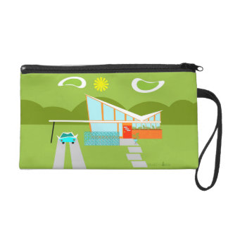 Retro Palm Springs House Wristlet