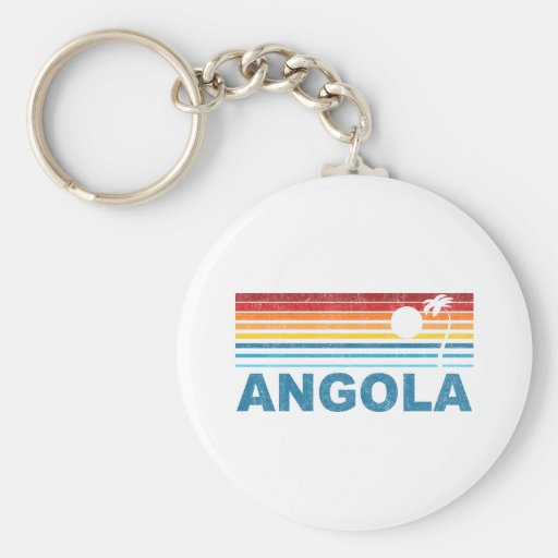 Retro Palm Tree Angola Keychain