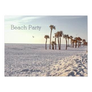 Retro Palmtree 1969 Florida Sand Ocean Beach Party Card