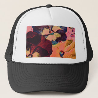 Retro Pansies Trucker Hat