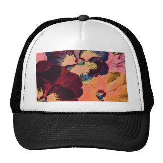 Retro Pansies Trucker Hat