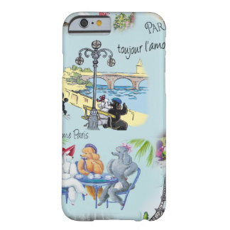 Retro Paris Poodle Collage Barely There iPhone 6 Case