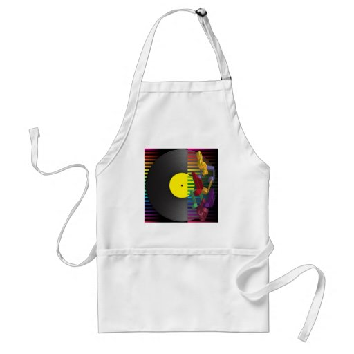 Retro Party Background Aprons