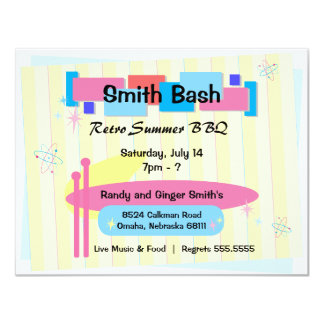Retro Party Invite Postcard