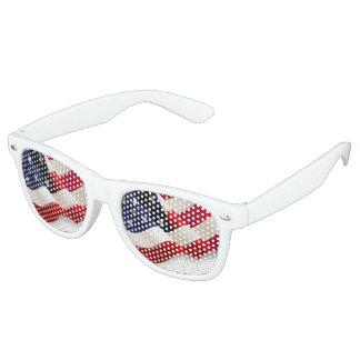 Retro Party Shades American Flag Sunglasses