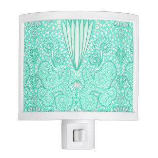 Retro pastel sea green pattern night lights